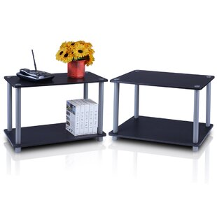 Furinno Turn 'n' Tube 2 Tier Shelves/End Table (Set of 2)