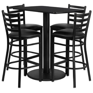 Lomonaco 5 Piece Pub Table Set