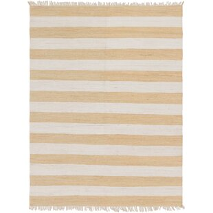 Big Save Johnie Hand-Knotted Cotton Beige/Off White Rug By Highland Dunes