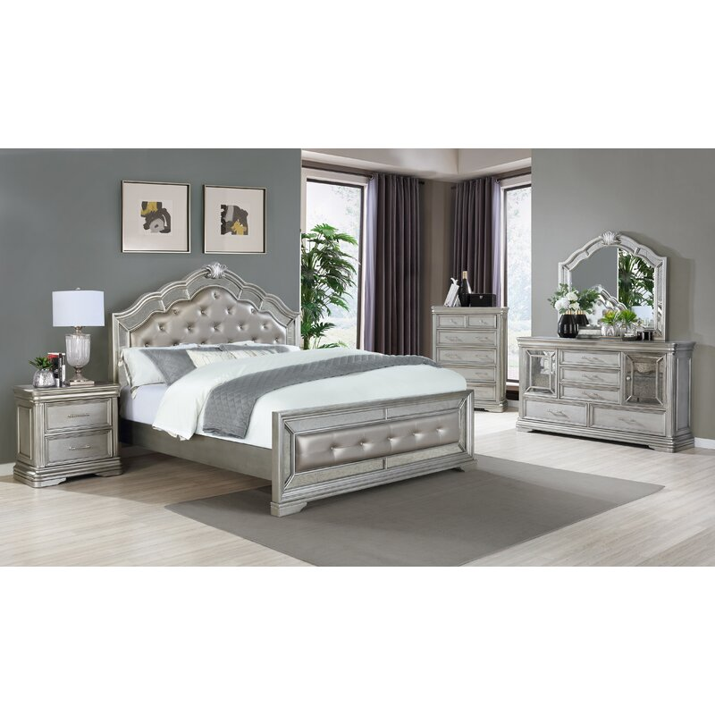 Rosdorf Park Winford Upholstered Standard 3 Piece Bedroom Set Reviews Wayfair
