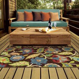 Gilson Brown Indoor/Outdoor Area Rug
