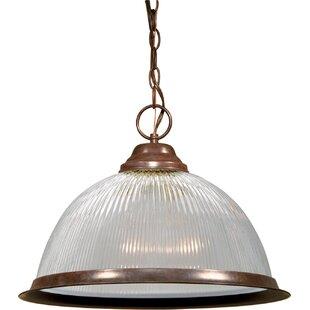 Winston Porter Dedham 1-Light Dome Pendant