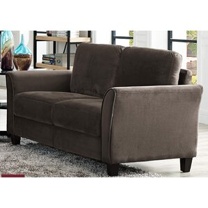 Patricia Curved Arm Loveseat by Charlton Home