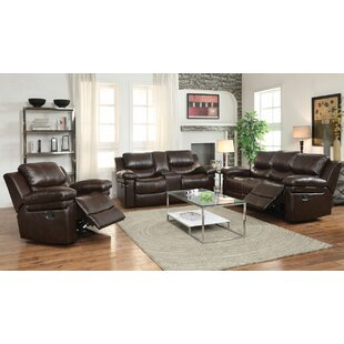 Rine Reclining Motion 3 Piece Living Room Set by