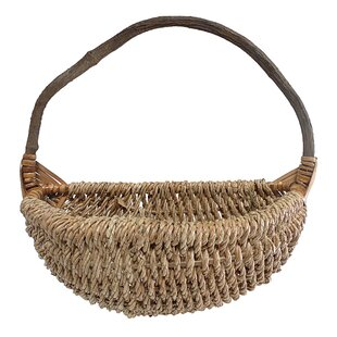Rope Wall Basket with Crazy Vine Handle by Cheungs