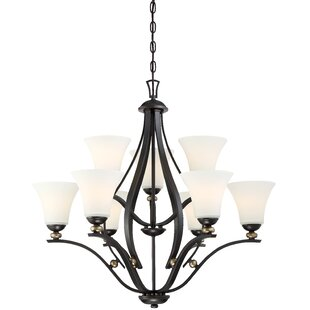 Reviews Stockton 9-Light Shaded Chandelier By Alcott Hill