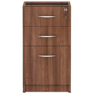 Alera Valencia Series Box Full Pedestal 3-Drawer Vertical Filing Cabinet by Tennsco Corp.