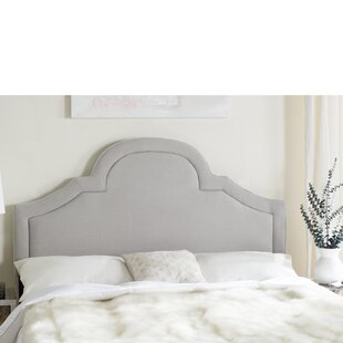 Online Reviews Liner Arched Upholstered Panel Headboard by House of Hampton