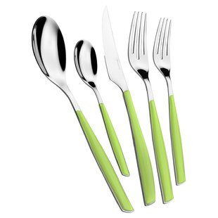 Glamour 5 Piece 18/10 Stainless Steel Flatware Set, Service for 1