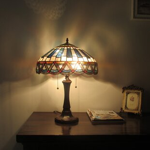 Dragon Tiffany 2 Light Mission 22 Table Lamp