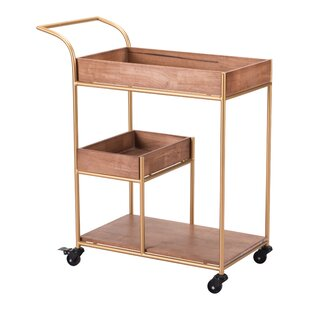 Noemi Bar Cart with Tray b..