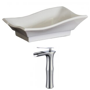Compare Specialty Specialty Ceramic Specialty Vessel Bathroom Sink with Faucet and Overflow ByAmerican Imaginations