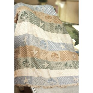 Seashells by the Seashore Cotton Throw