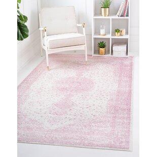 Chauncey Cotton Pink Area Rug Wayfair
