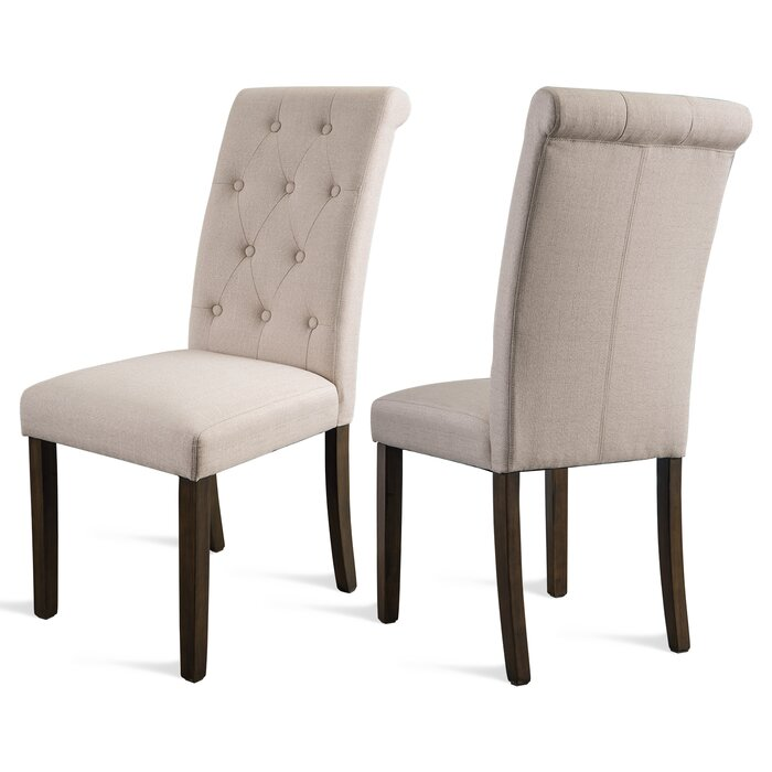 225 & Munguia Aristocratic Style Dining Chair Noble And Elegant Solid Wood Tufted Dining Chair Dining Room Set (set Of 2)