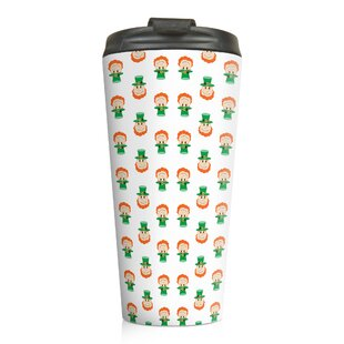 Billiot Tiny Leprachaun Pattern Travel Mug