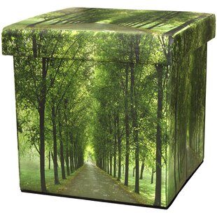 Path of Life Storage Ottoman by Oriental Furniture