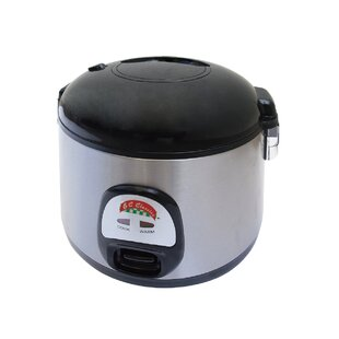 7-Cup Stainless Steel Thermo Deluxe Rice Cooker