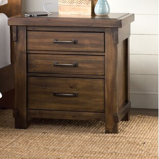 Gracie Oaks Mattalyn 3 Drawer Nightstand