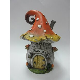 Walnut Grove Mushroom House Fairy Garden by August Grove