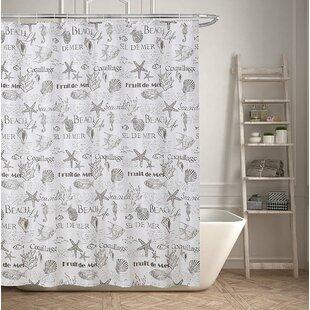 Beach Life Inspired Shower Curtain Inspirational Shower Curtains Wayfair