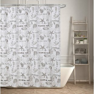 Beach Life Inspired Single Shower Curtain