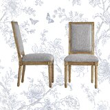Libretto Rectangular Upholstered Side Chair (Set of 2) by Kelly Clarkson Home