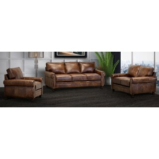 Made In Usa Ghonge Brown Top Grain Leather Sofa, Loveseat And Chair by Charlton Home SKU:EB529051 Reviews
