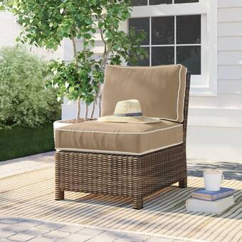Chamond Outdoor Patio Chair With Cushions Reviews Birch Lane