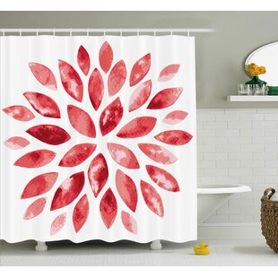 Shelby Watercolor Style Flower Buds Petals Nature Beauty Blossom Artistic Boho Flourish Print Single Shower Curtain