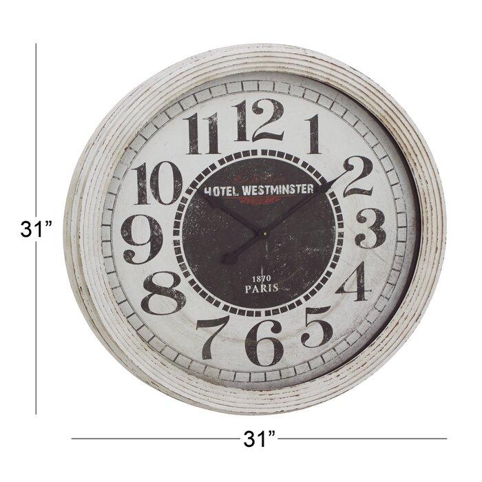 Oversized 31 Wood Wall Clock