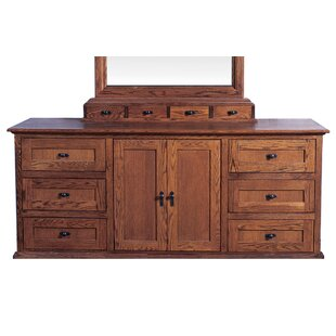 Delron 9 Drawer Combo Dresser with Mirror