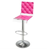 Capiton Adjustable Height Swivel Bar Stool by Acrila