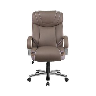 Latitude Run Ash High-Back Leather Executive Chair