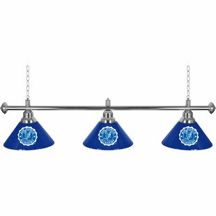 NCAA 3-Light Pool Table Lights Pendant by Trademark Global