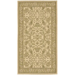 Herefordshire Cream / Olive Indoor/Outdoor Area Rug