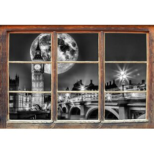 Big Ben In Front Of Large Moon In London Wall Sticker By East Urban Home