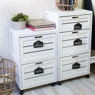 Gracie Oaks Helvic Crated 2 Drawer Mobile..