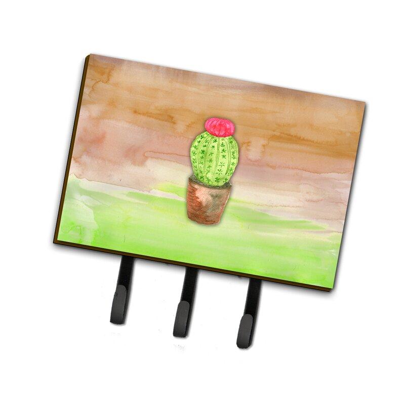 East Urban Home Cactus Watercolor Leash Or Key Holder Wayfair
