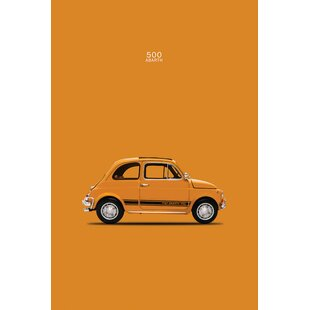 '1969 Fiat 500 Abarth' Graphic Art Print on Canvas By East Urban Home