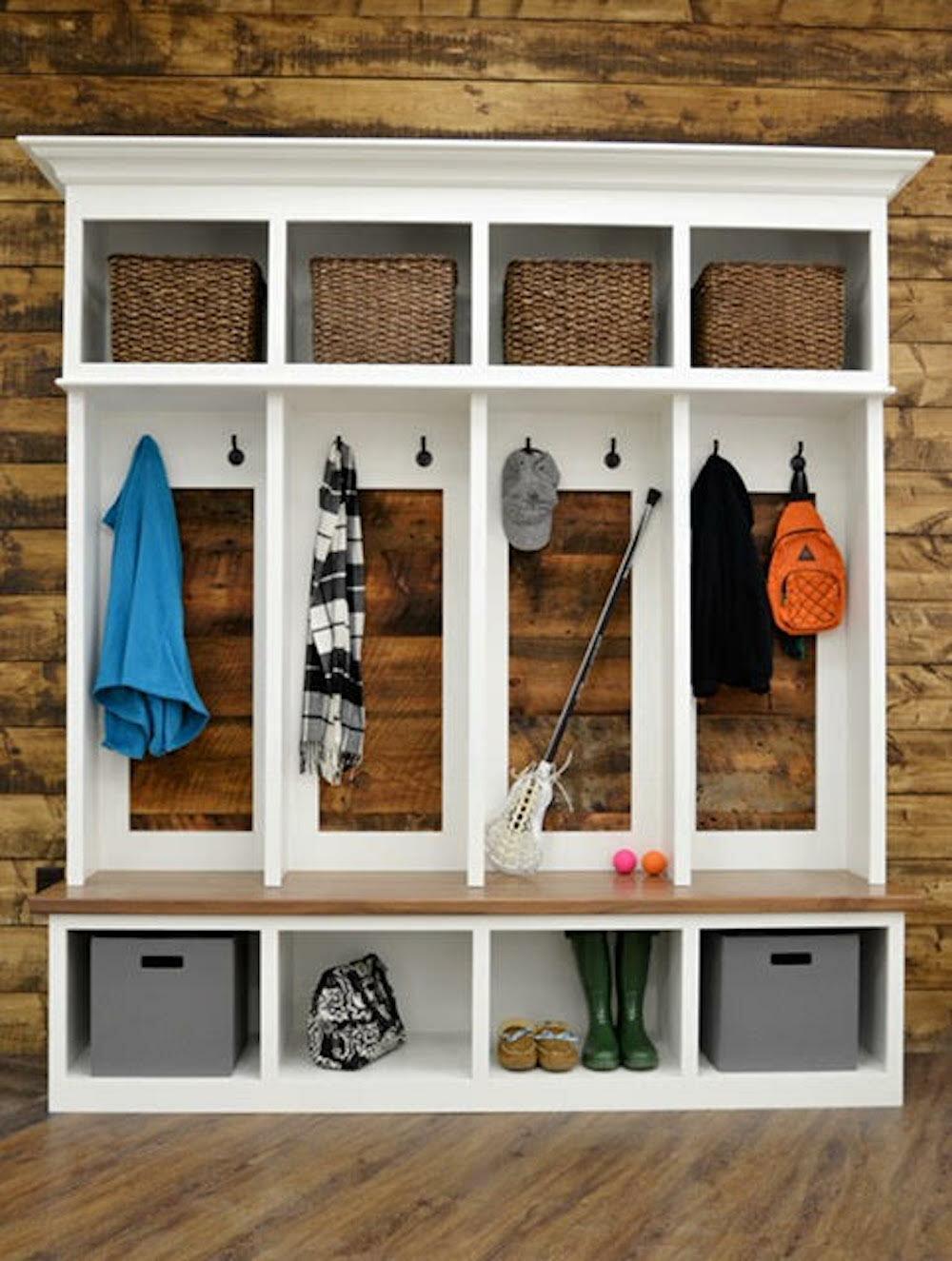Admirable Ybarra Mudroom Storage Unit Hall Tree Interior Design Ideas Clesiryabchikinfo