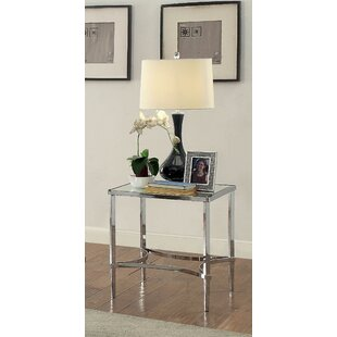 Price comparison Nobhill Mirrored End Table by Orren Ellis