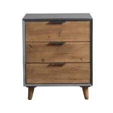 Minimalist 3 Drawer Wooden Cabinet by Teton Home