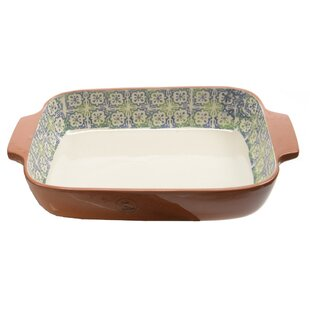 French Countryside Rectangular Flower and Cross Oven Dish
