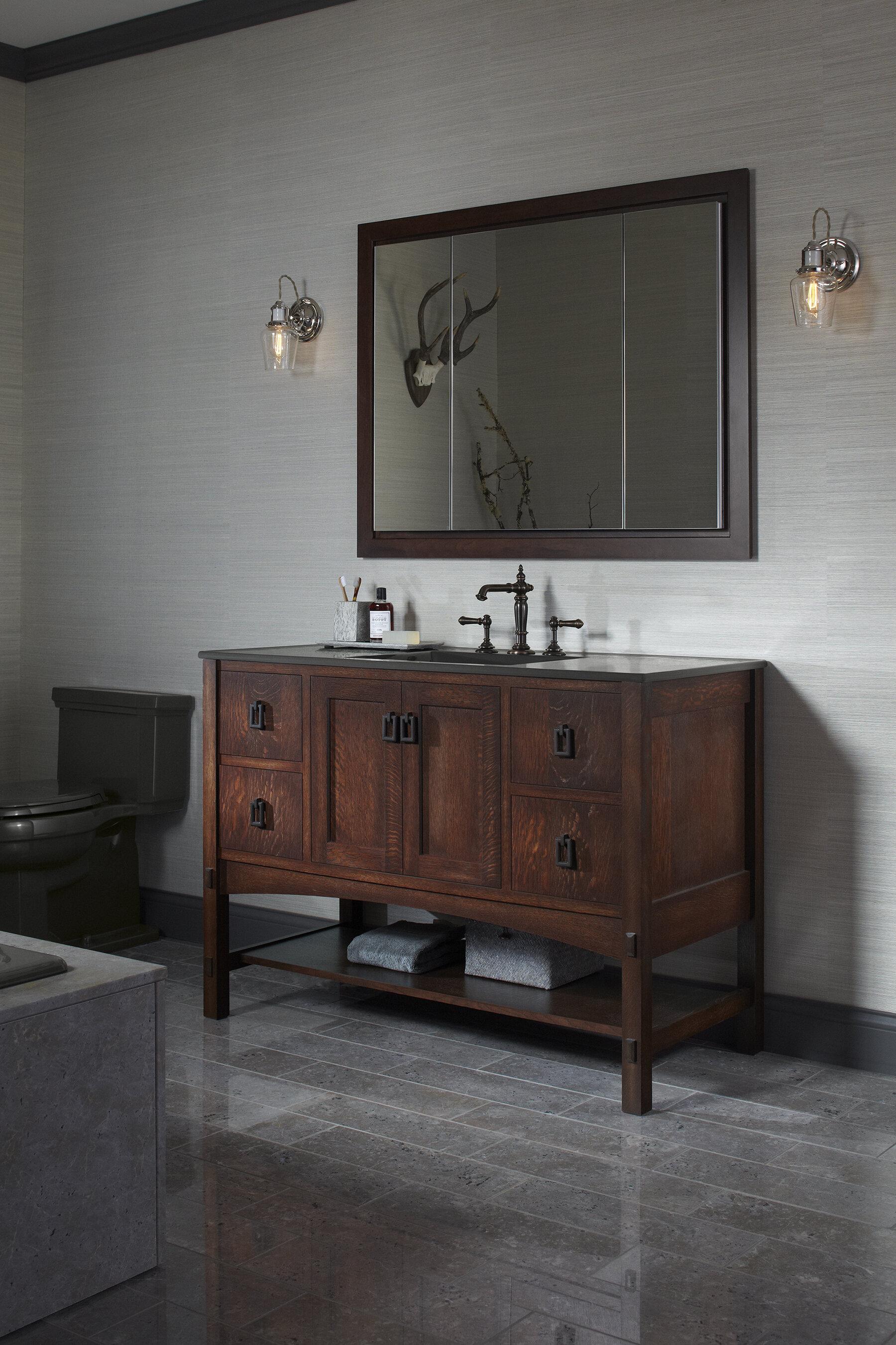 Kohler Verdera 40 X 30 Aluminum Medicine Cabinet With Adjustable Magnifying Mirror And Slow Close Door Reviews Wayfair Ca