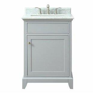 Bhushan Marble Top 25 Single Bathroom Vanity Set By Red Barrel Studio