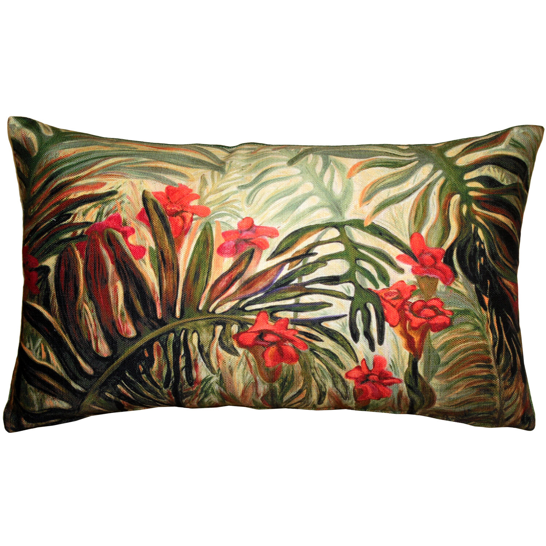 Pillow Decor Jungle Of Ferns Indoor Outdoor Lumbar Pillow Wayfair