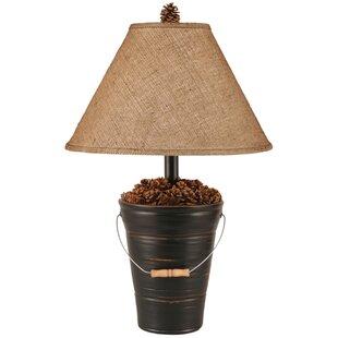 Rustic Living Bucket of Pine Cones 28