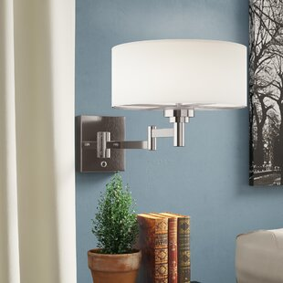 Reviews Hugo 1-Light Swing Arm Lamp By Charlton Home