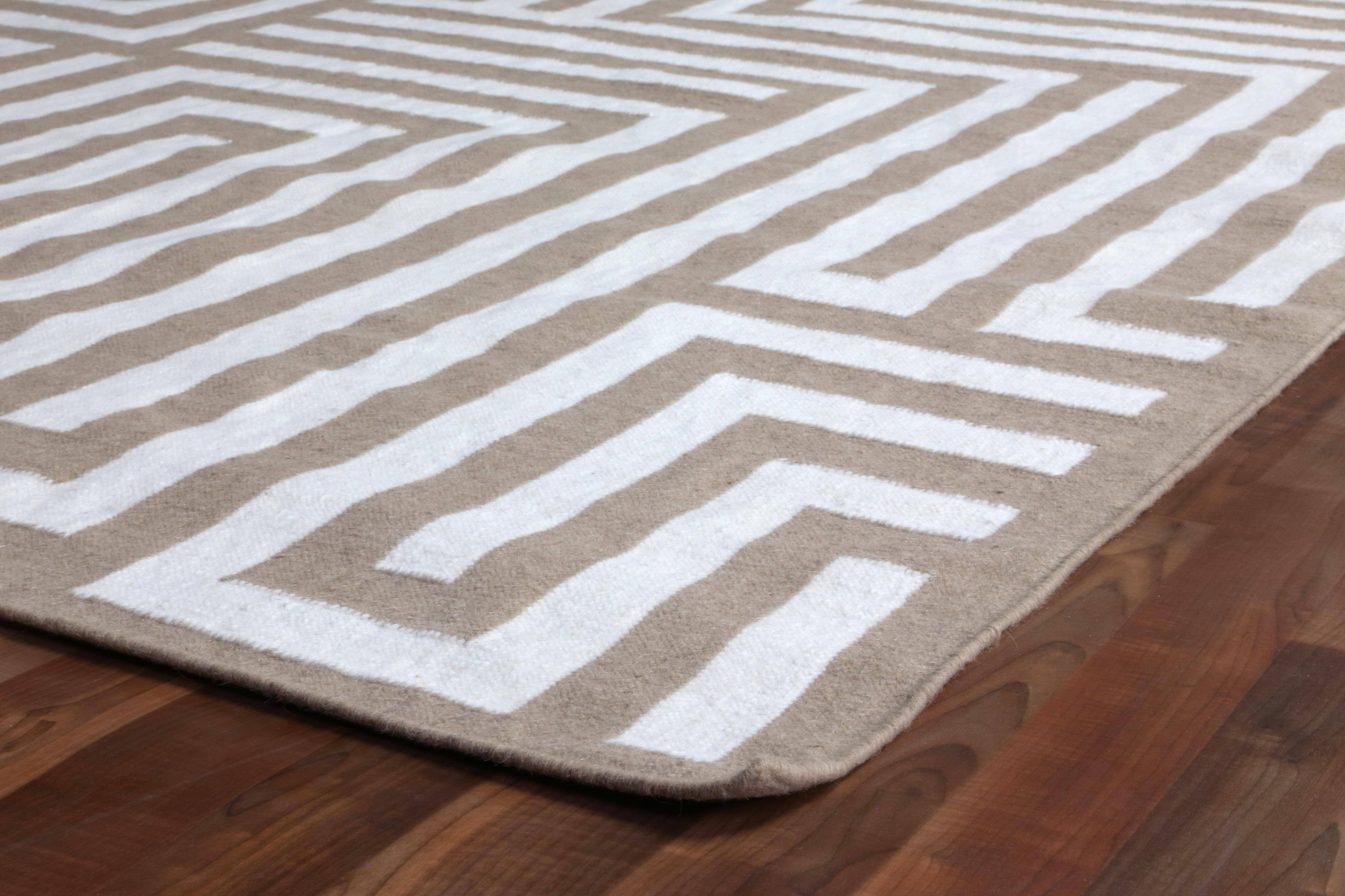 Exquisite Rugs Flat Woven Wool Beige Area Rug Wayfair